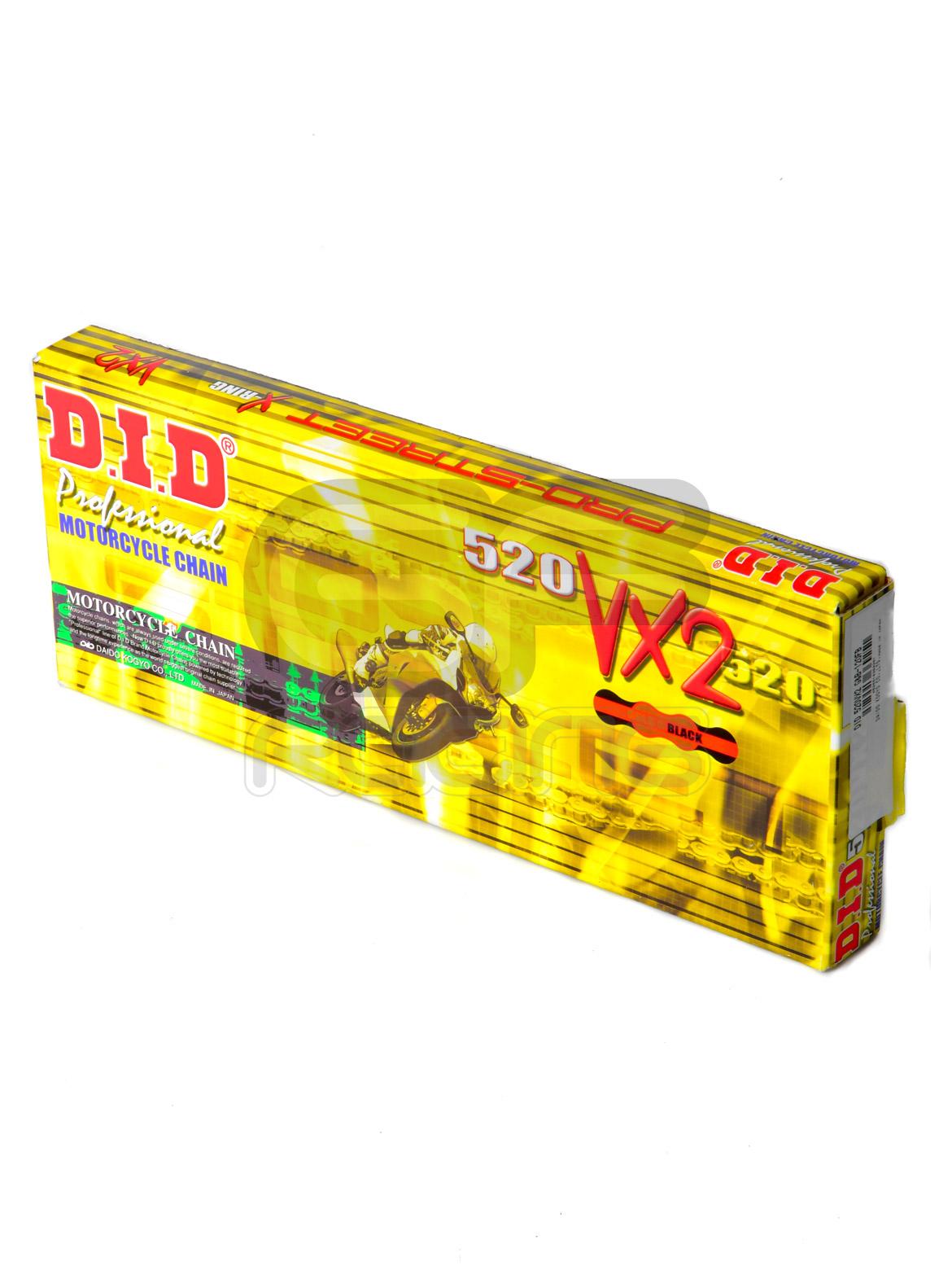 DID 520VX2 Gold X Ring Final Drive Chain