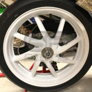 Refurbished Reconditioned VFR400 NC30 Rear Wheel Gloss White