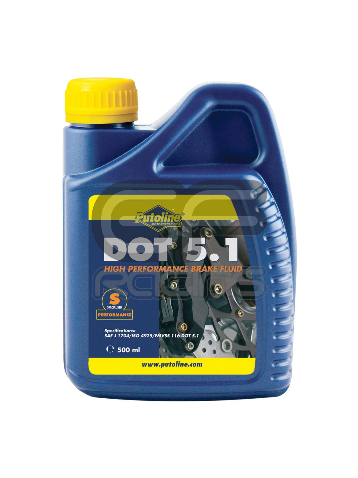 Dot 5 1 Brake Fluid >> Putoline Brake Fluid Dot 5 1 500ml Rrp Direct Honda Cbr400