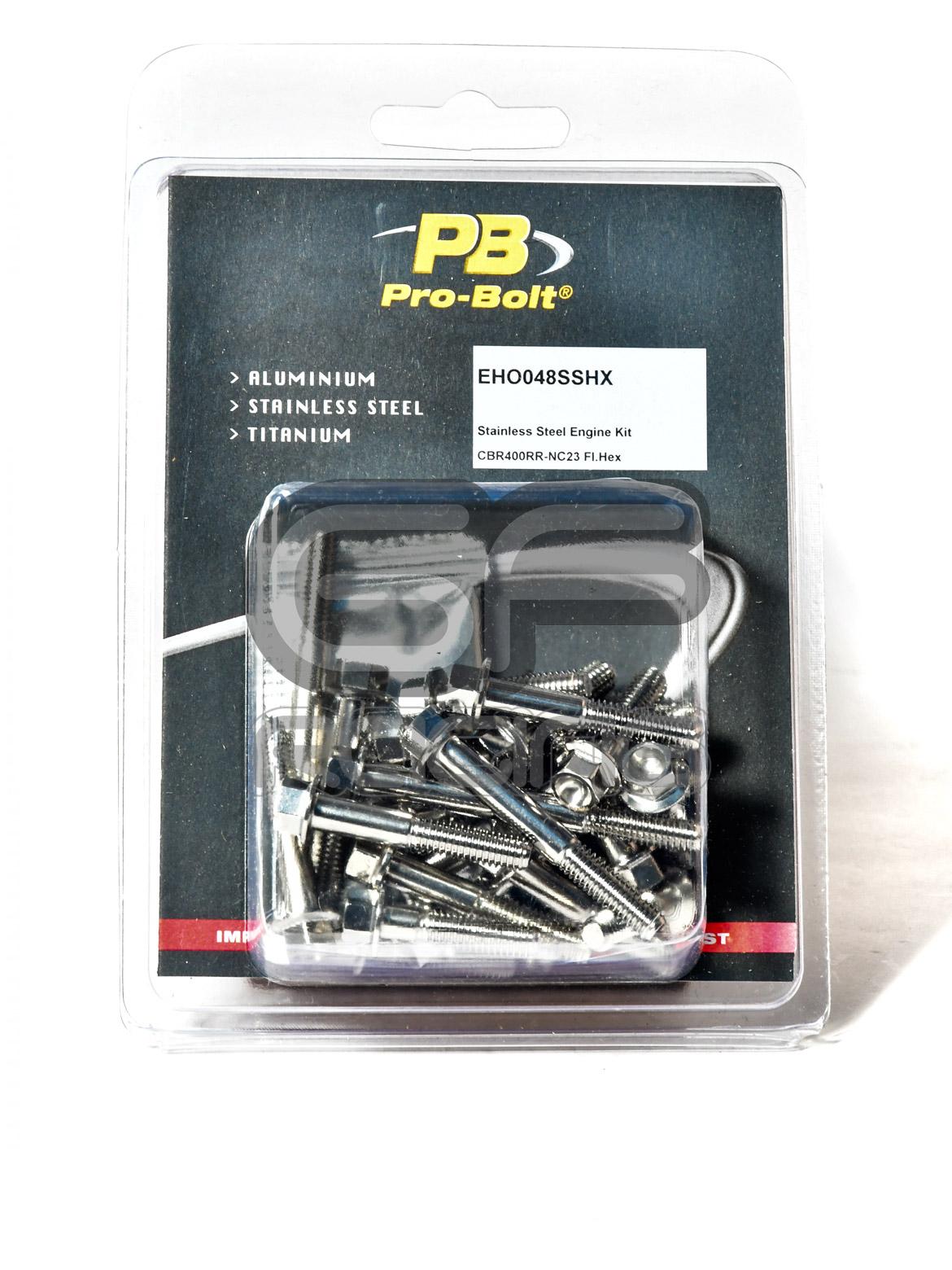 Pro Bolt PB CBR400 NC23 Stainless Engine Bolt Kit EHO048SSHX